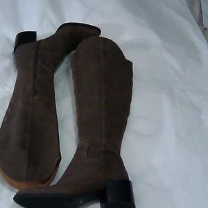Nine West Enrica Gray over the Knee Boots 8M